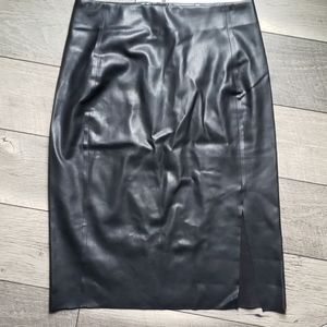 Ann taor loft vegan leather midi skirt 8